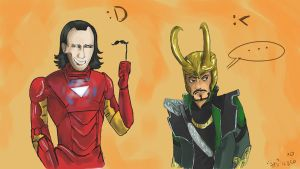 Loki and Tony XD (collab) by DymasyaSilver