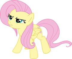Angry Fluttershy by Puppetkamon