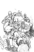 My Avengers pencils by JoeyVazquez