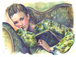 Book Lover in Green by Vasylissa