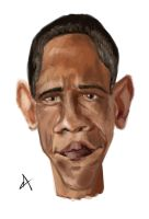 Obama Caricature by omerbd