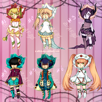 [Adoptables] roses gijinkas 4 [Closed] by Z-afiro