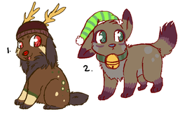 Christmas Adoptablesss by P0CKYY