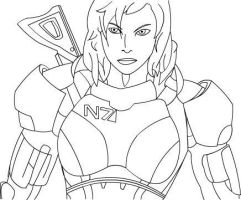 Flash Drawing: FemShep by slamdriver