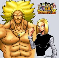 Dragon Ball Z Broly and 18 by Alainprem