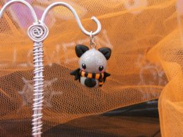 HALLOWEEN CUTE BAT pendant by Libellulina
