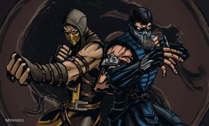 Mortal Kombat X: Scorpion and Sub-Zero by MenasLG