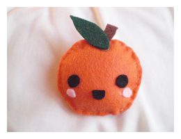 Orange Plushie by xxgeishadoll