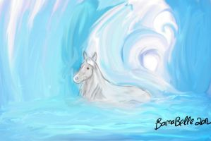 Wintery Water Horse by BamaBelle2012