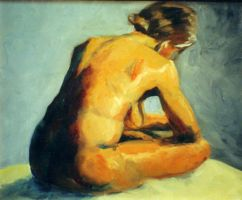 seated woman by apprenticeb