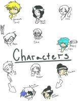 Characters for the comic by Caryin