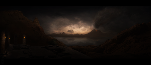 Eruption, matte painting #17 by AlexanderConcept