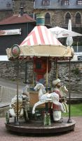 Karussell 02 old  little carousel on a castle by Nexu4