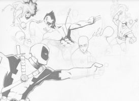 Mutants vs Ninjas WIP by LangleyEffect