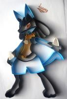 Lucario by AlmostBlueKitty