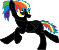 Rainbow Pony Request by RaindropLily