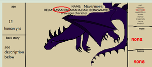 Nevermore - The-dragon-realms ref sheet by NecroWyvernAZX