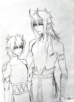 OC: Rahal and Ian scetch by Crescentia-Fortuna