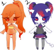 (CLOSED) Point Adoptables: Slime and Demon by Acetylace-Adopts
