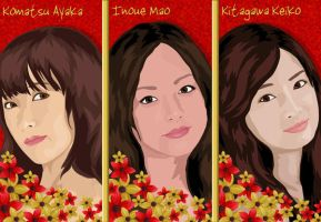 3 Favorite Japanese Actresses by lilpurpleperson