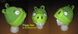 Angry Bird Piggy Hat by SethImmortal