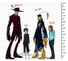 Character height chart by Digimitsu
