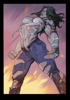 There is no she in the Hulk by nunchaku