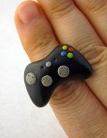 Black XBOX 360 Ring by egyptianruin