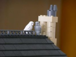 Lego City Scene - Owls by batil