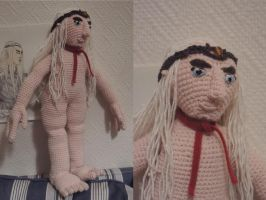 Amigurumi Thranduil WIP.9 : Face! by AloiInTheSky