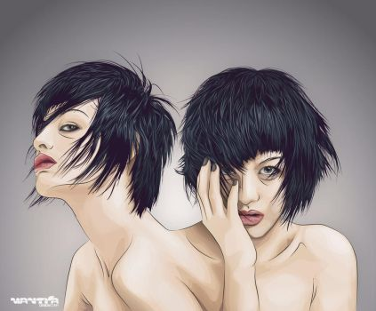 twin androgyny by phig
