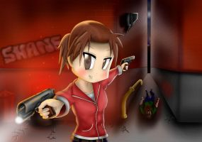 Anime Zoey - Left 4 dead by xZDisturbedZx