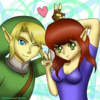Me and Link by MelanthaTatsuya