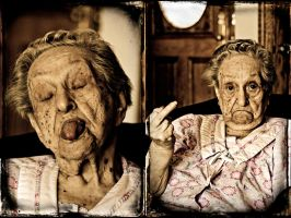 My grandmother goofing with me by ashapiro515