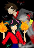 Contest Entry: Wind and Fire by kuraikitsune13