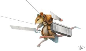 Mouse with 3d maneuver gear by cicakkia