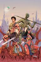 John Carter : Warlord Of Mars # 1 Variant cover 2 by panelgutter