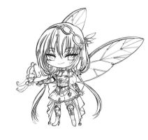 Custom adopt _ Butterfly and a Knight by JBeanSV