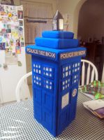 My Home Made TARDIS -view 2 side 2 by Therese-B