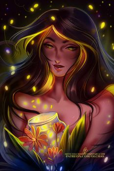 Fireflies :gif: by OlchaS
