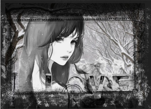 black and white love by halo4549