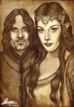 Arwen and Aragorn by Akadio