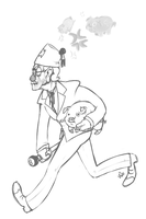 Grunkle Stan and Waddles by vwv-vwv