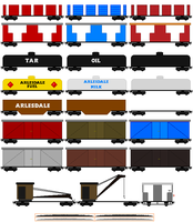 Miniature Gauge Rolling Stock(Edited) by DanielArkansanEngine