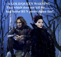 Gold Queen Warning by Kate-Kane