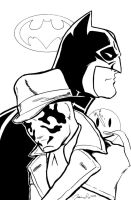 Rorschach and Batman by JLillustrator