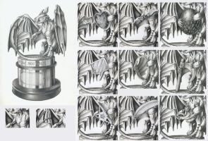 Golden Fury Statue basic drawings by DanGref