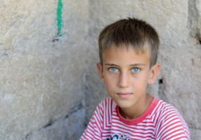 Boy with blue eyes by TanBekdemir