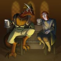 Commission: I think they pissed in my mead by GalooGameLady
