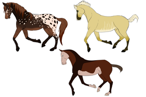 Some Horse Adoptables :Open: by Whitelupine